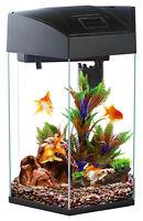 Fish R Fun Hexagon 21.6L Black Aquarium Fish Tank Starter with LED, Filter