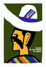 Cuban movie Poster for MEXICO week Cinema.Mexican Art.Home room wall decoration