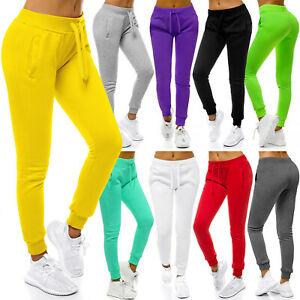 Traininghose Jogginghose Jogger Sport Freizeit Sweatpants Unifarben Damen OZONEE