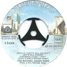 "Michael Zager Band – Let's All Chant = Cantemos Juntos Rare Spanish  7"" Vinyl"