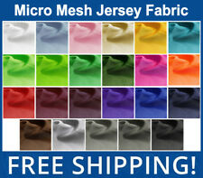 Micro Mesh Athletic Jersey Fabric - Many Colors - 60