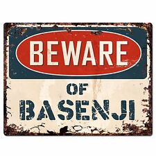 Ppdg0002 Beware of Basenji Plate Rustic Chic Sign Decor Gift