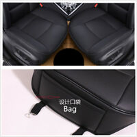 Luxury Car Seat Cover PU Leather Bamboo Charcoal Comfortable For BMW&Toyota blk