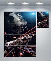 Star Wars Millennium Falcon Death Star Space Giant Wall Art Poster Print