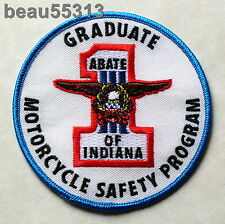 "ABATE of INDIANA ""GRADUATE MOTORCYCLE SAFETY PROGRAM"" VEST JACKET PATCH"