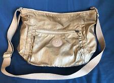 Kipling Golden/Beige Nylon Crossbody/messenger Shoulder Bag