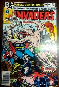 #33~1978~The INVADERS~Thor!~Marvel~comic book