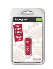 Integral USB 2.0 Expression Flash Drive - 8GB Keep Calm red . INFD8GBXPRKCBURED