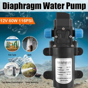 12 Volt 60W 110Psi High Pressure Wash Diaphragm Self Priming Water Pump 5L/min