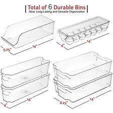 Stackable Storage Fridge Bins Refrigerator Organizer Bins for Fridge, Freezer,