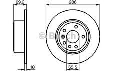 BOSCH Juego de 2 discos freno Trasero 286mm OPEL VECTRA SAAB 9-3 0 986 478 436