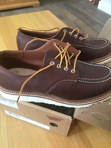 Red Wing Classic Oxford Shoes 8109 UK 9.5 Leather Shoe Laces Mahogany BNWT
