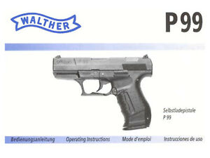 Walther P99 Pistol Instruction and Maintenance Manual