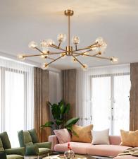 Modern Gold Crystal Shade Sputnik Chandelier 18-Heads Ceiling Pendant Lighting