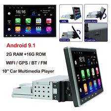10.1'Android 9.1 car stereo single din Quad-core Car Radio Gps Nav Mirror Link