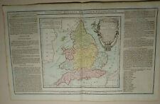 1786 Desnos and de la Tour Hand coloured Map England