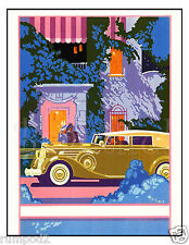 Car Poster - Classic/Vintage Rolls Royce Poster/Art Deco/17x22 inch