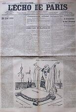 WW1 GUERRE 1914 - 1918 LOT 30/31 JOURNAL L ECHO DE PARIS JANVIER 1916 SALONIQUE