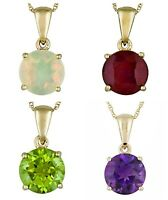925 Sterling Silver Mix Gemstone Handmade Gold Plated Handmade Chain Pendent