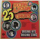 "25 ROCKIN & ROLLIN GREATS Original Artists LP Album 12"" 33rpm Vinyl VG"