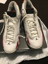 "Men's Air Jordan Retro 14 ''Candy Cane"" White/Red Size 11 (100% authentic)2005"
