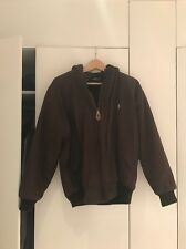 Ralph Lauren Vintage Jacket Chocolate Brown With Sherpa Suade Inner Size Medium