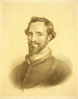Lithography Attributed to J B Mauzaisse: Antoine-Arnaud of Pardaillan in Gondrin