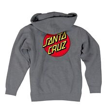 Santa Cruz CLASSIC DOT ZIP FRONT Skateboard Hoodie GUNMETAL HEATHER XL