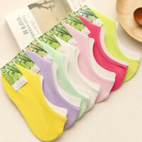 6 12 Pack Women Bamboo Invisible Nonslip Ankle No Show Loafer Boat Socks Low Cut