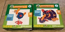 LOT 2 PBS KIDS Ozzie the Ostrich & Hazel the Hippo YOXO NEW in box Building Toy