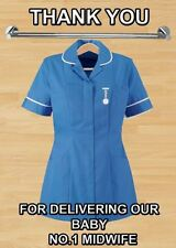 THANK YOU For Delivering Our Baby PIDMI1 A5 Greeting Card Midwife