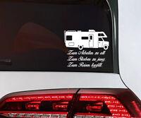 Wohnmobil Auto Aufkleber Camping Wohnwagen Sticker Reisen Camper mit Spruch