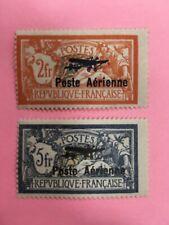 PA N°1 et 2 NEUF * TIMBRE FRANCE 2 FRANCS ET 5 FRANCS POSTE AERIENNE (4)