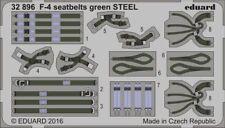 Eduard Accessories 32896 - 1:32 F-4 Seatbelts Green Steel - Ätzsatz - Neu