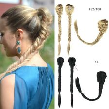 23''Synthetic Fishtail Fishbone Clip In Drawstring Braid Ponytail Hair Extension