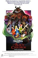 1985 THE BLACK CAULDRON classic movie poster WALT DISNEY dark fantasy 24X36