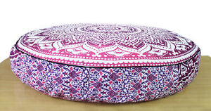 """Pink Ombre 35""""Round Floor Indian Decor Pillow Cushion Mandala Pouf Seating Cover"""