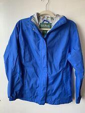 LL Bean Blue Jacket Rain Women's SMALL