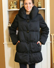 KATE SPADE BLACK ALAINE PUFFER COAT Size L Shanghai Bow Beau Collar FANTASTIC!