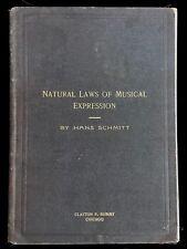 1894 leyes naturales de expresión musical-Hans Schmitt - 1st/1st música física