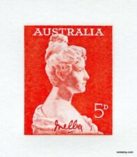 Australia Replica Card #9 1961 Dame Nellie Melba Stamps Die Proof