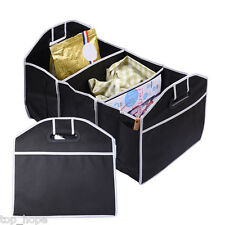Car Trunk Boot Organiser Collapsible Storage Holder Bag Foldable Travel Tidy Box