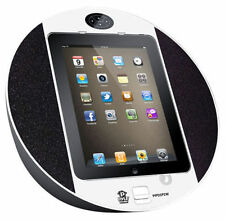 Pyle PIPDSP2W iPad/iPhone Touch Screen Dock - FM Radio/Alarm Clock (White)