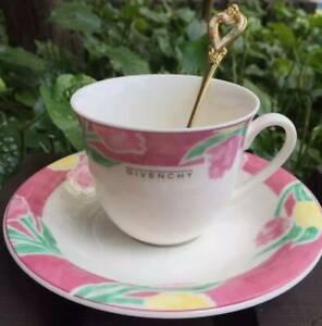 Givenchy coffee cup tea with plate Yamaka Japan Rare