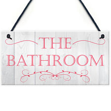 Bathroom Contemporary Plastic Decorative Hanging Plaque Wall Door Toilet Sign