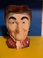 VINTAGE ROYAL COPLEY WALL  POCKET - HEAD  VASE  -  OLD COLONIAL WOMAN -EXCELLENT