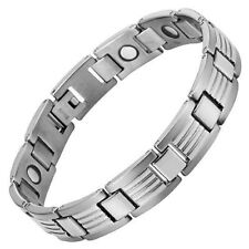 Willis Judd Mens Titanium Magnetic Therapy Bracelet with Gift Box  Adjustable