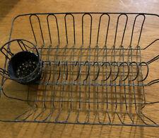 New listing Antique Vtg Primitive Kitchen Metal Wire Dish Drainer & Silverware Drying Basket