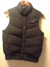 GAP Black Snap Front Puffer Vest Women's Size M Medium