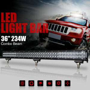 36inch LED Light Bar Work Lamp 234W Off Road Flood Spot Combo ATV 4WD Truck SUV